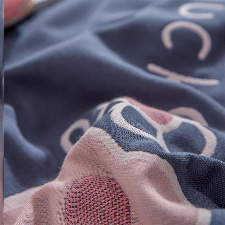 Khăn gối cotton đôi cao cấp đơn giản Gạc bông Bắc Âu dành cho trẻ em - Khăn gối