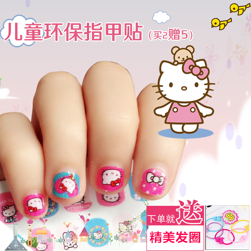 Child Nail Sticker Korea Girl Waterproof Lasting Baby Cute Safe ...