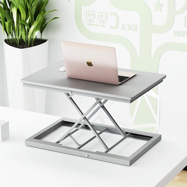 站立式笔记本电脑桌工作台式机显示器升降支架托站着用办公台书桌