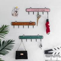 Ins крюк творческий подъезд ключ Настенное нордическое декоративное пальто для хранения дверь Рот стены верх Вешалка