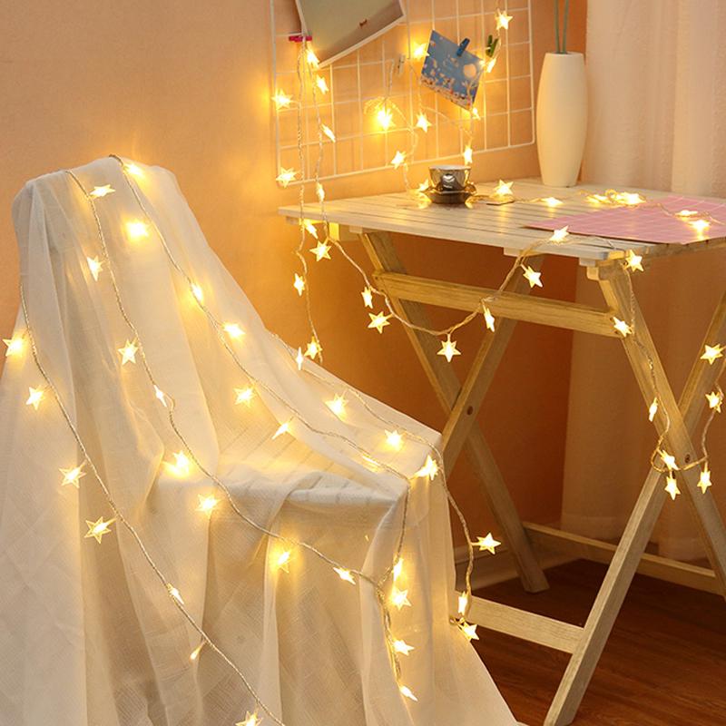 LED少女心小彩燈閃燈串燈七彩變色滿天星燈飾網紅燈房間裝飾星星