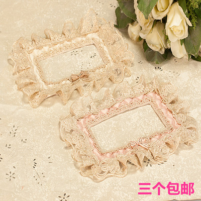 Switch sticker wall sticker Environmental protection creative switch sticker fabric protective cover Double switch sticker socket cover lace