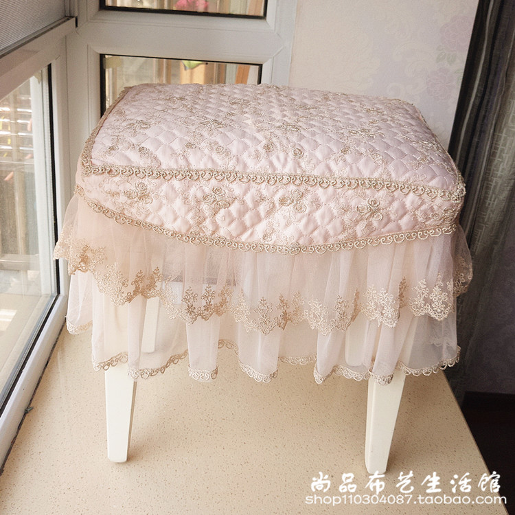Lace Cloth Make Up Stool Sets Of Dressing Table Square Cover Round Bed Tail
