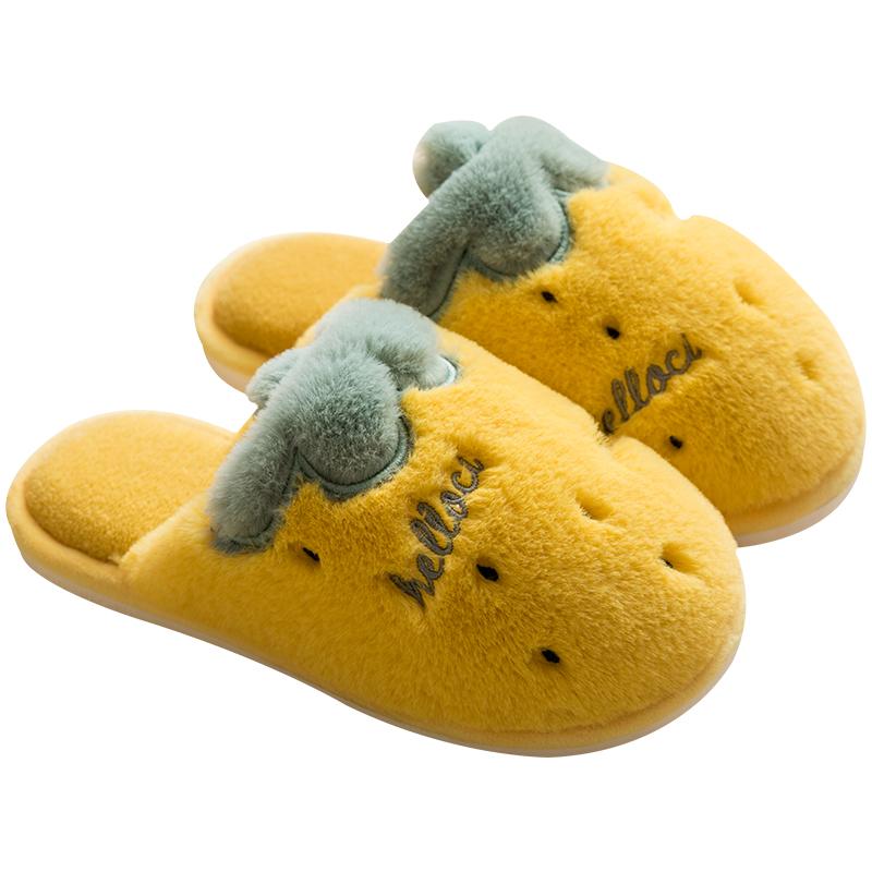 棉拖鞋家居女室内可爱冬天拖鞋毛绒家用冬季毛拖鞋居家秋冬情侣男