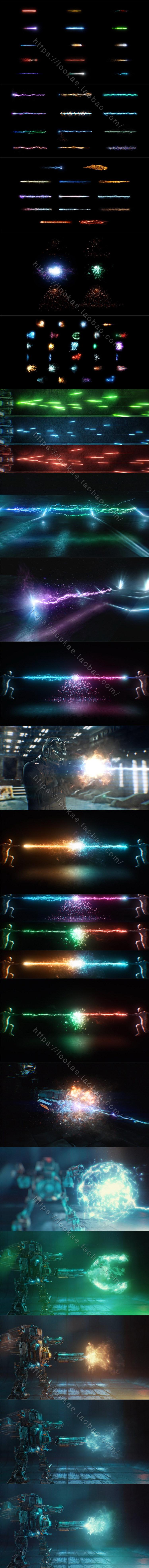 视频素材-115个科幻魔法能量冲击波火焰光线特效合成4K视频素材插图1