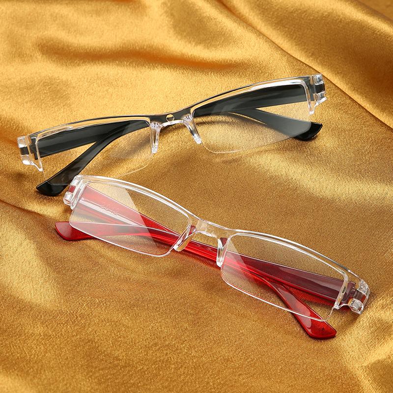 日本一体老花镜男高清防蓝光超轻时尚便携老人老光老化眼镜花镜女