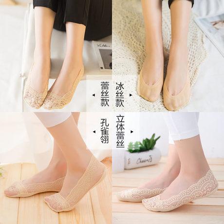   Цена 1063 руб   Кружево носки носки женщина волна хлопок конец тонкий летний мелкий рот шелк льда хитрость силикагель анти - скольжение носок лето