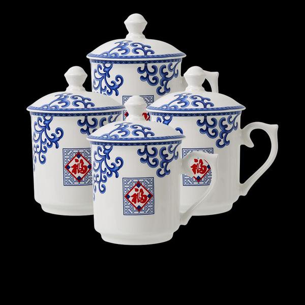 【帮企怀泉】陶瓷茶杯4只