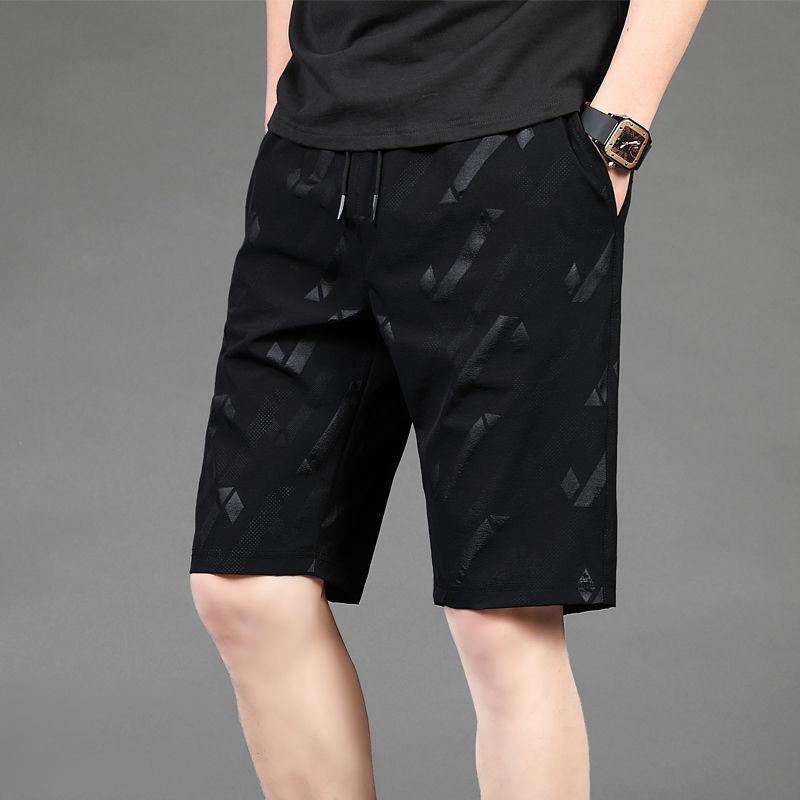 夏季冰丝短裤男薄款运动速干五分裤
