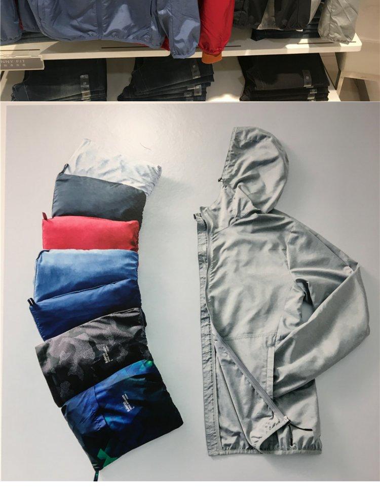 Chính hãng Benny Road 18 năm mới áo gió nam đội mũ trùm đầu mùa xuân và mùa hè thường thở siêu mỏng áo khoác thể thao 88075527