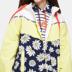 Aige ES thời trang giản dị cúc nhỏ khâu ngắn ngắn trùm đầu áo gió áo khoác nữ 17033403386 Trench Coat