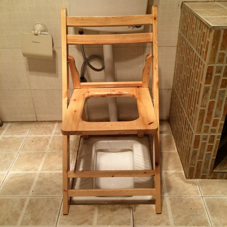 All solid wood waterproof moisture-proof folding seat stool Cypress ...