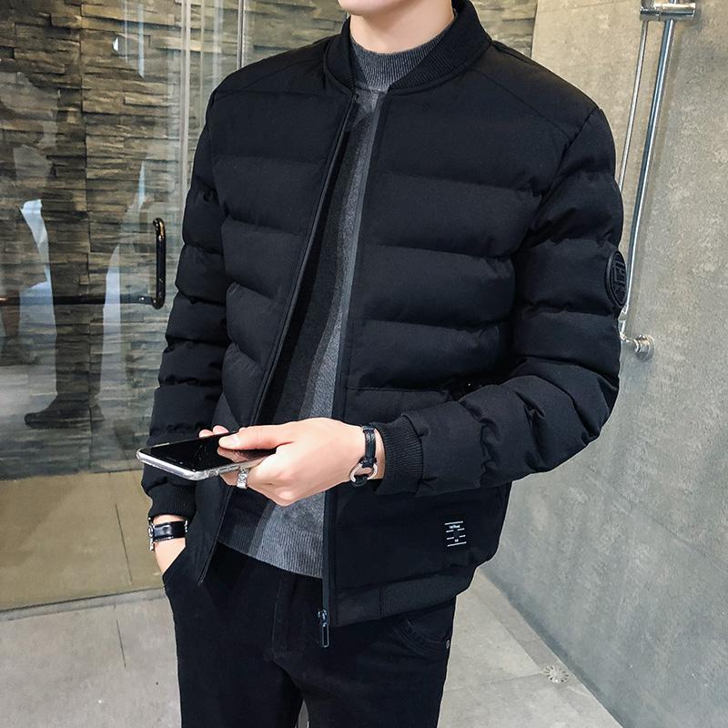 男士棉衣外套2019冬季新款潮流韩版帅气加厚短款棉袄男装羽绒棉服