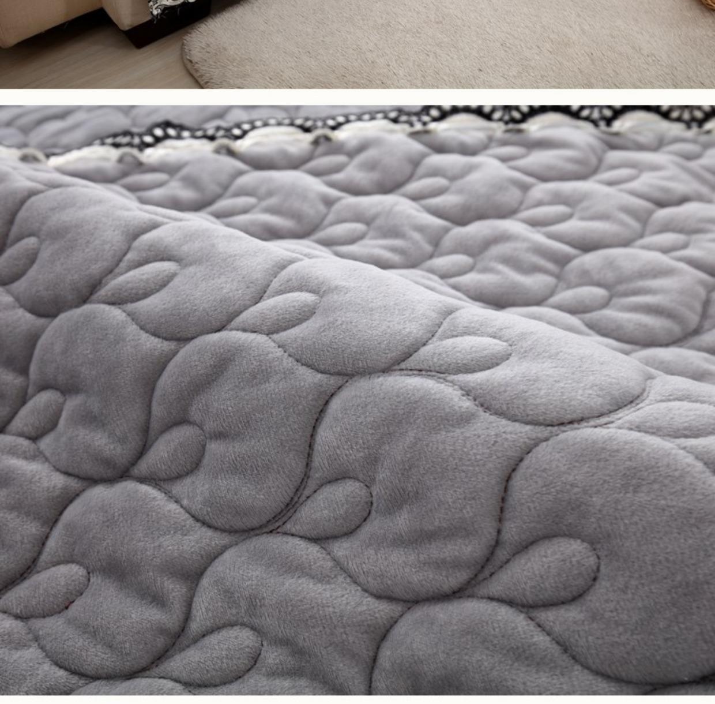 高档欧式加厚毛绒沙发垫简约现代欧式万能套全包沙发罩巾布艺防滑23张