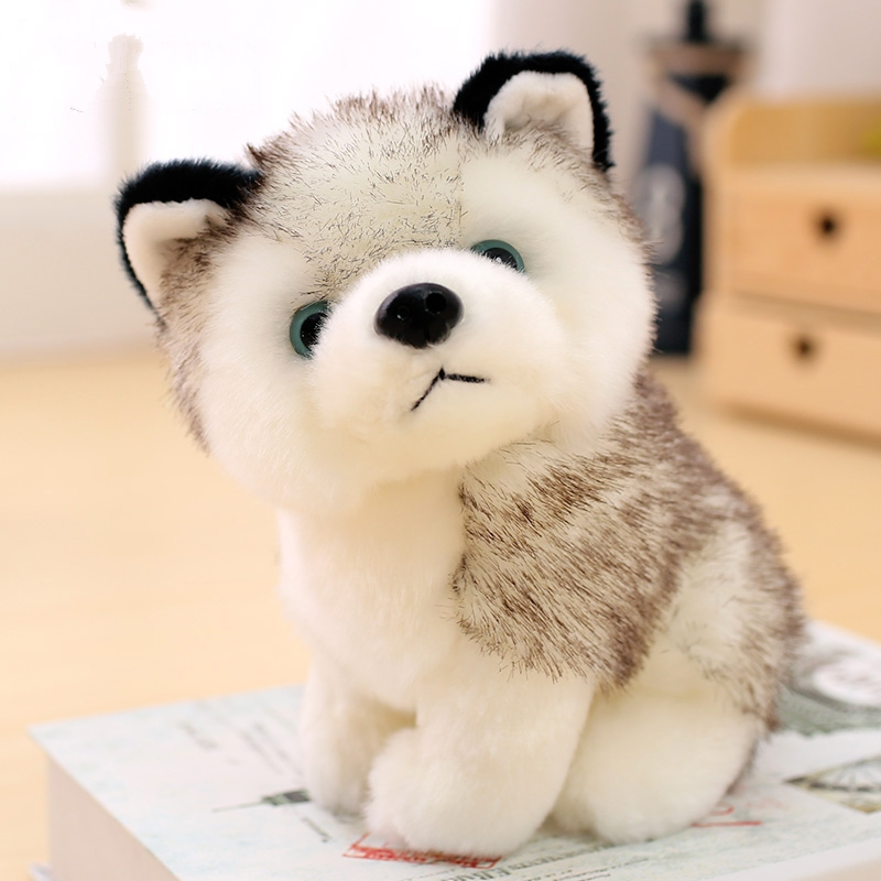 Puppy búp bê gối búp bê hai đồ chơi sang trọng sang trọng bé trai phiên bản mô phỏng Husky cậu bé lười biếng lớn dễ thương - Đồ chơi mềm