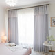ins Douyin Net Red 2019 Modern Simple Hollow Stars Bedroom Full Shading Princess Wind Double Bay Window Curtains
