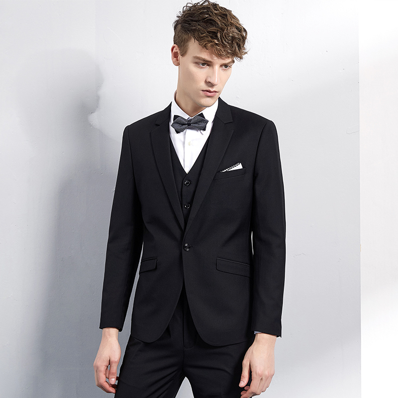 USD 492.79] Groom wedding suit male suit wedding host emcee dress ...