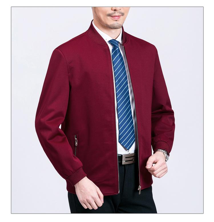 Mùa xuân và mùa thu trung niên của nam giới ve áo jacket jacket phần mỏng áo giản dị top nam cha nạp quần áo của cha