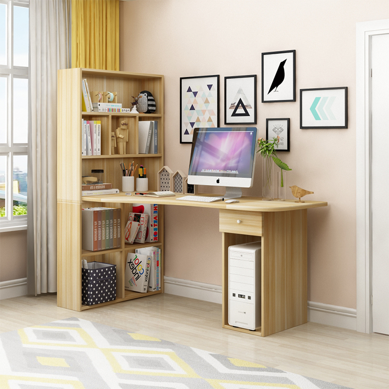 Usd 174 30 Home Simple Corner Desktop Computer Desk Desk Bookcase Bookshelf Combination Children Study Desk Bedroom Desk Wholesale From China Online Shopping Buy Asian Products Online From The Best Shoping