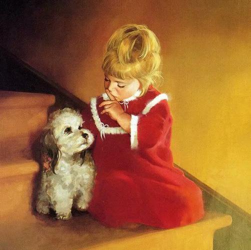 定制油画天使小孩花香简欧式客厅玄关壁炉卧室儿童房画芯无框