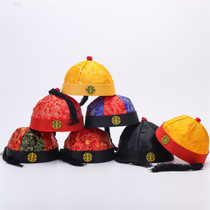 Wang Ye's hat with Tang costume antique melon skin hat lattice hat Qing Dynasty Emperor's hat ancient costume drama performance hat four seasons hat