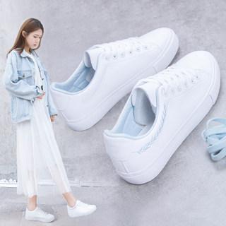 Tupin all-match white shoes women shoes summer thin section 2020 new Korean student white shoes flat women shoes
