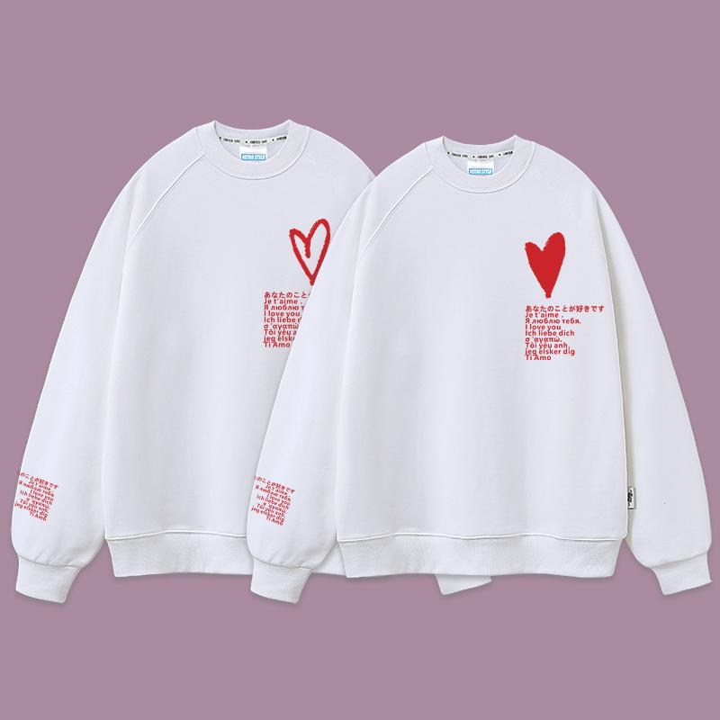 情侣装卫衣秋冬款小众设计感韩版加厚新款