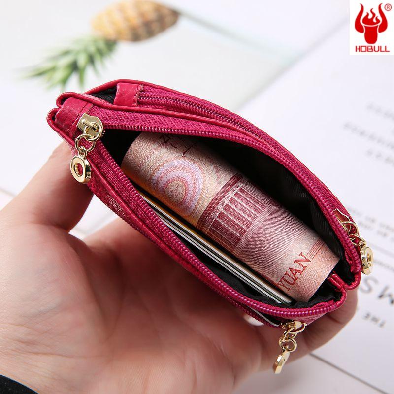 Đồng xu nữ sinh viên phiên bản Hàn Quốc dễ thương đồng xu mini da bò thẻ đa năng gói thẻ túi ví nhỏ - Ví / chủ thẻ