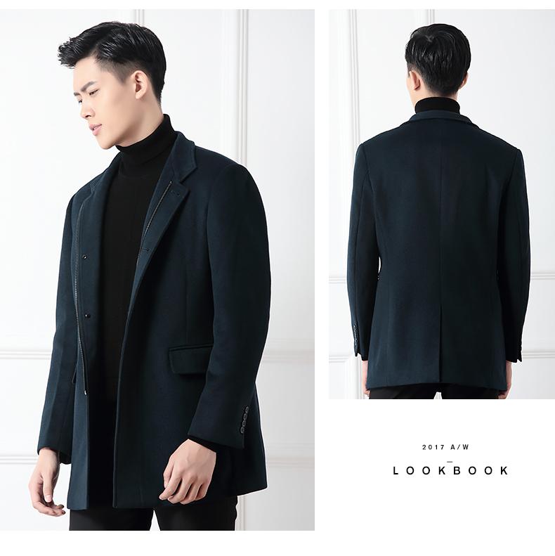 Hodo đậu đỏ nam mùa đông người đàn ông mới của áo thời trang đứng cổ áo giản dị áo len 018S5
