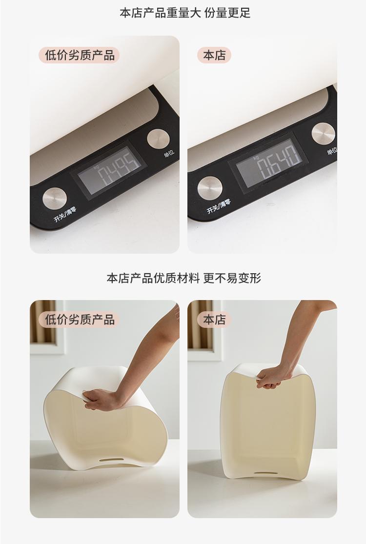 收纳筐杂物整理塑料框厨房收纳盒桌面零食置物篮子浴室储物长方形详细照片