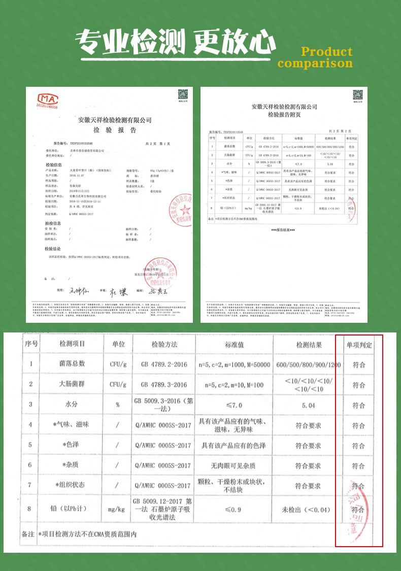 """盒【同仁堂】大麦若叶青汁代餐粉"""""""