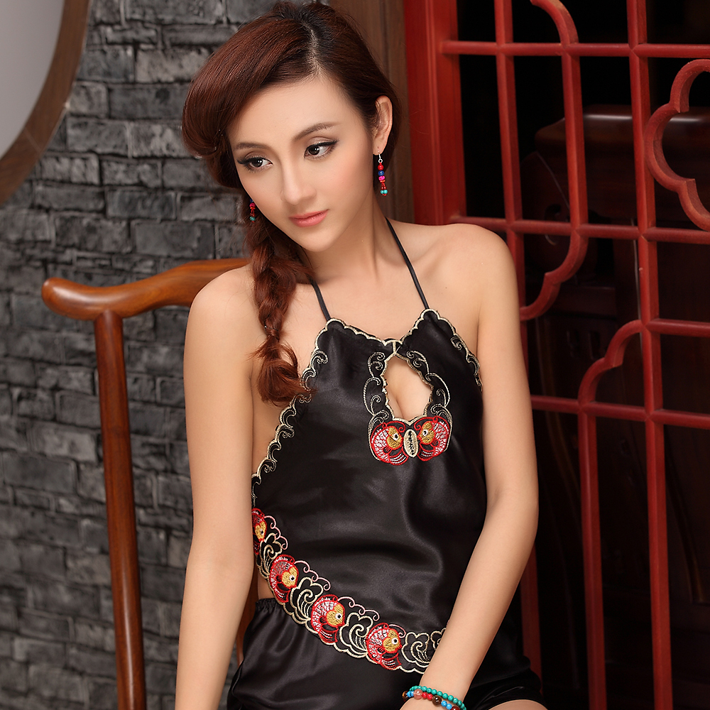 027487e86 Ladies temptation chest trench costume underwear retro pajamas chiffon  belly sexy adult sets home service
