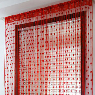 One-term wedding curtain red curtain Korean peach heart shaped love line wedding room decoration equipment