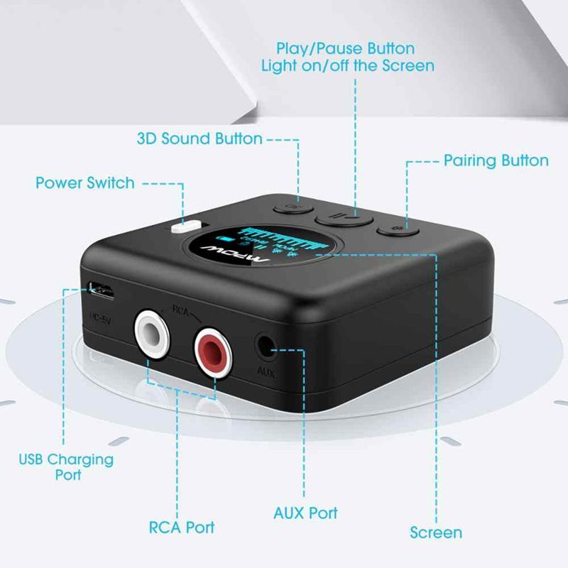 有线音箱变无线,mpow蓝牙5.0接收器-爱扫货