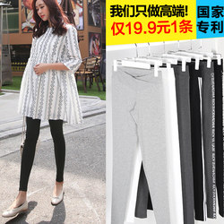 Pregnant women's pants, bottoming pants, spring and autumn models, autumn models, low waist, spring and summer thin models, autumn clothing, cropped trousers, short velvet