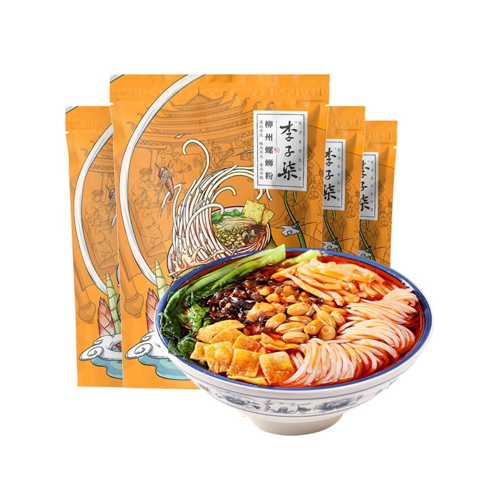 李子柒螺蛳粉广西特产柳州螺丝粉螺狮粉速食方便米线335g×4袋