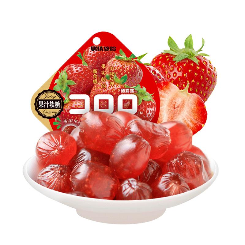 悠哈-草莓味果汁软糖52g/袋