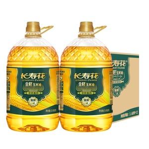 长寿花非转基因金胚玉米油3.68L*2桶