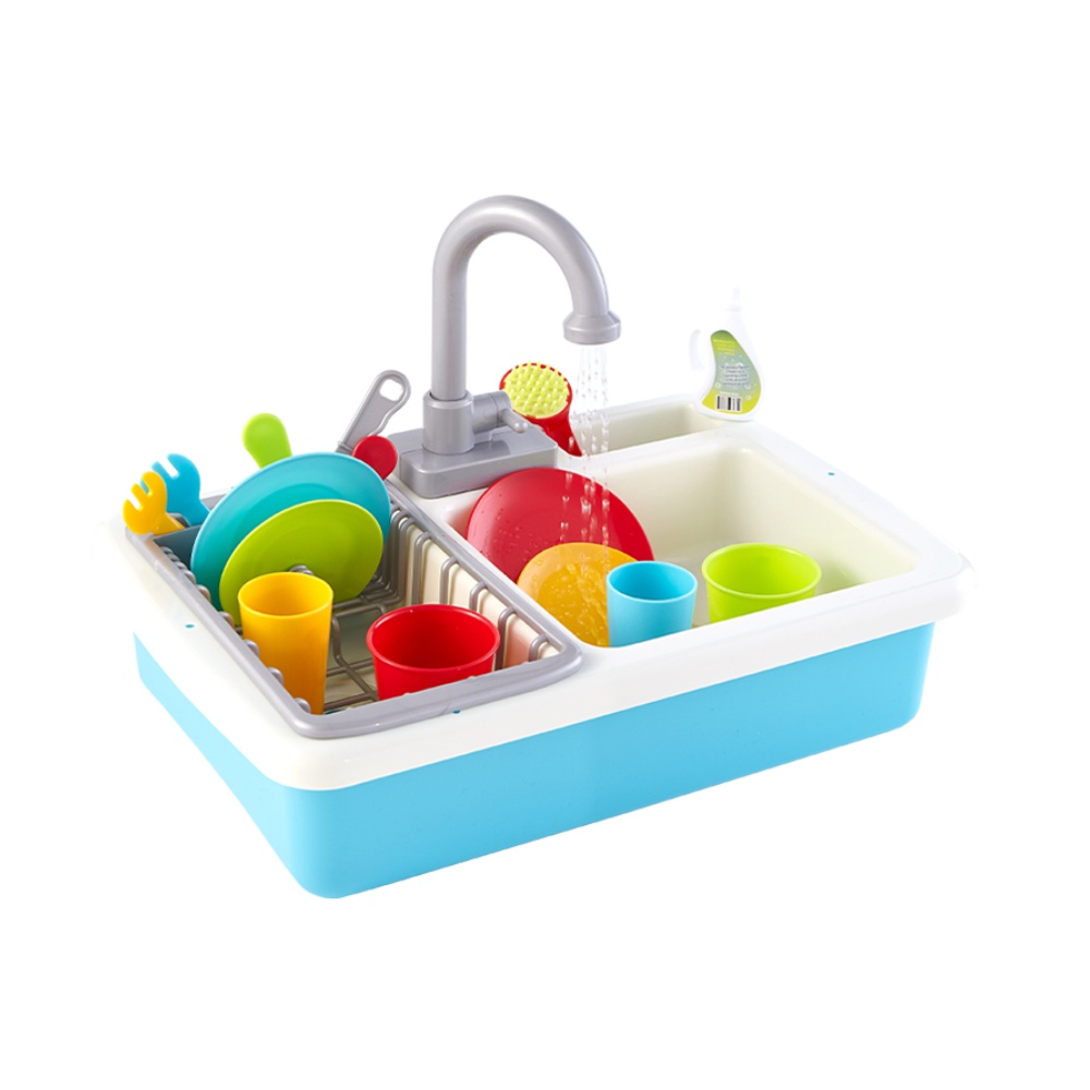 PLAYGO贝乐高小水池洗碗机儿童益智玩具仿真男孩女孩厨房过家家