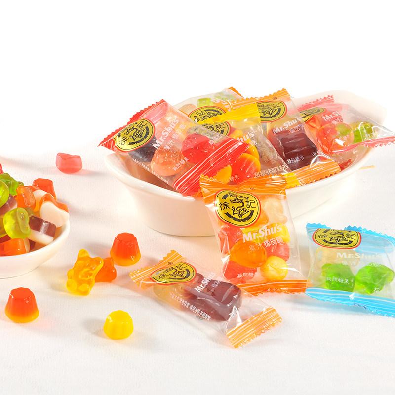 徐福记糖果小叭叭橡皮糖500g混合口味果汁软糖qq糖喜糖散装零食