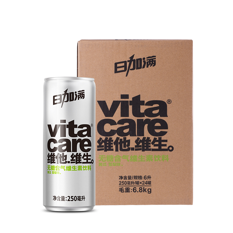 日加满黄瓜雪梨味维生素含气饮料24罐