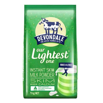 澳洲进口德运脱脂成人中老年学生冲饮牛奶粉1kg冲饮早餐