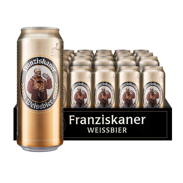 限地区 Franziskaner 范佳乐 小麦白啤酒 500ml*24听装 多重优惠折后¥84包邮