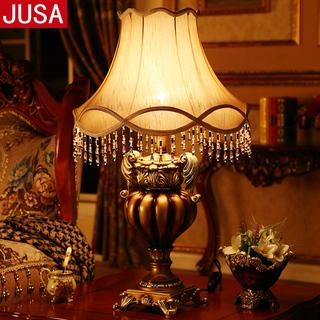 Настольные лампы,  Континентальный гостиная настольные лампы американский письменный стол роскошный творческий диван кофейный столик большой размер может затемнение спальня тумбочка свет, цена 3387 руб