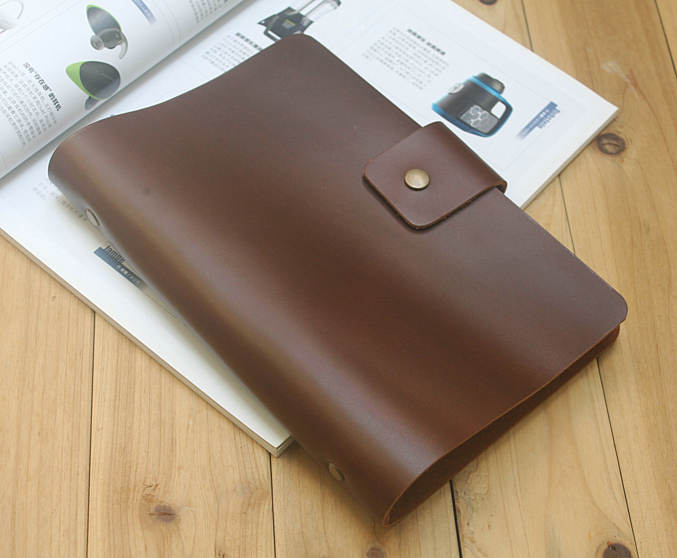 A5 A6 Notepad leather notebook head leather book 20-hole binder
