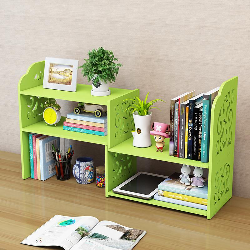 Creative Computer Desk Book Stand Retractable Desktop Bookcase Children  Simple Shelf Small Office Storage Rack Simple