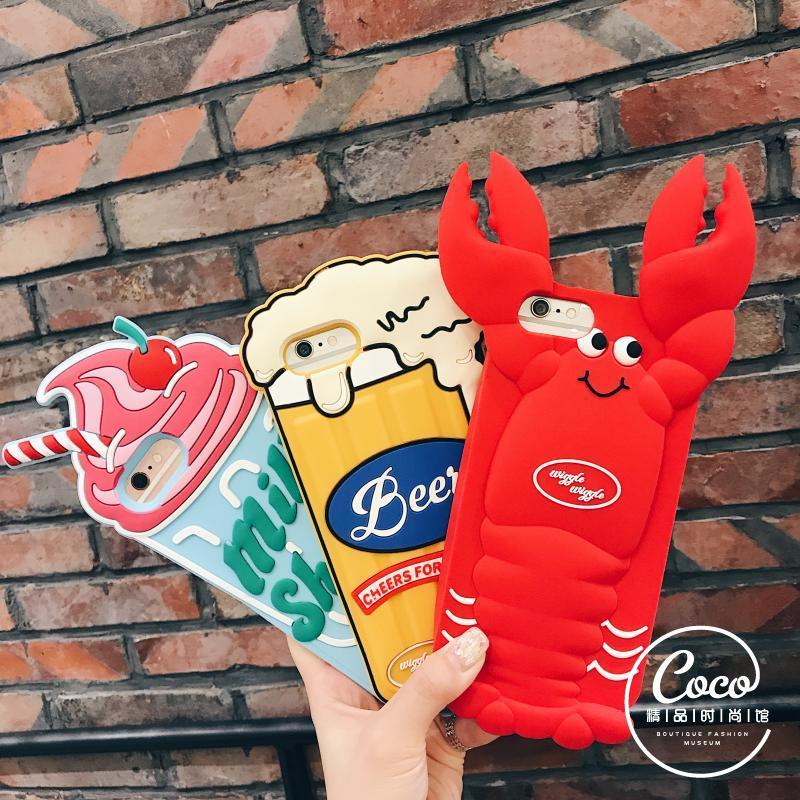 日韩龙虾啤酒冰激凌雪糕iPhone手机壳