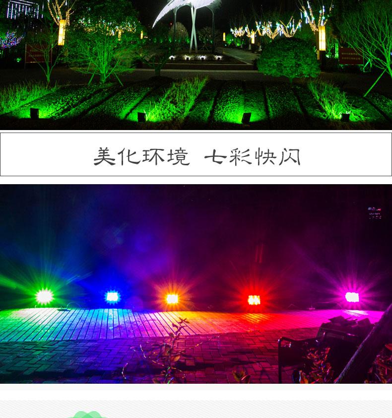 彩色投光灯户外防水园林景观绿化七彩射灯广告牌照树灯详细照片