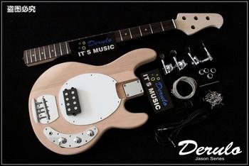 Бас-гитары,  DRL четыре аккорд электричество бас полуфабрикаты гусли тело сердце персик дерево гусли шея канада клен палисандр накладка на гриф DIY, цена 8085 руб