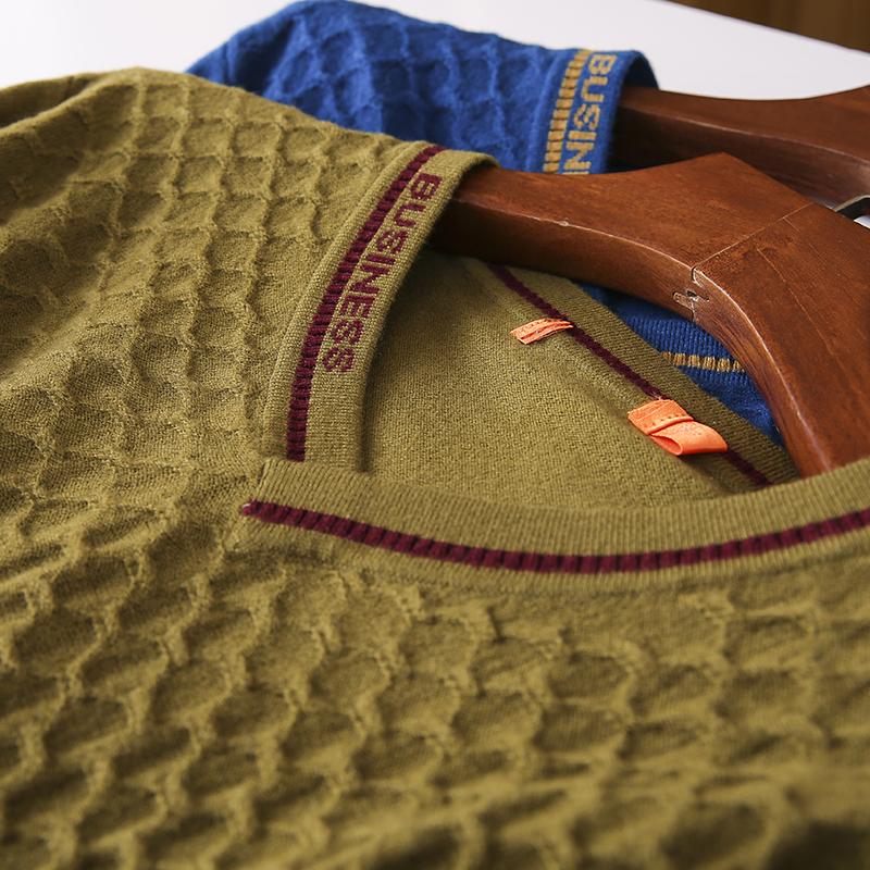 Thin sweater autumn chicken heart collar sweater new 2020 burst men's cut inside the men's bottom shirt V-neck top 39 Online shopping Bangladesh